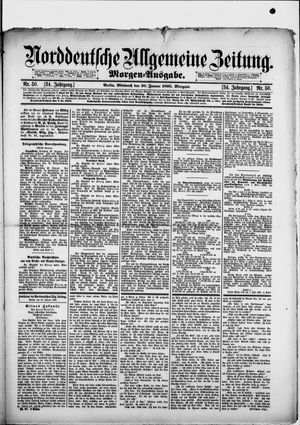 Norddeutsche allgemeine Zeitung vom 30.01.1895