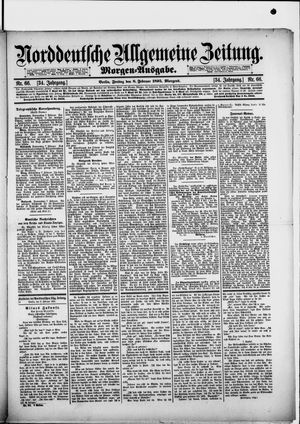 Norddeutsche allgemeine Zeitung vom 08.02.1895