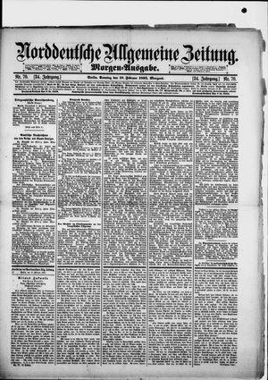 Norddeutsche allgemeine Zeitung vom 10.02.1895