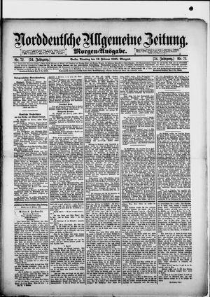 Norddeutsche allgemeine Zeitung vom 12.02.1895