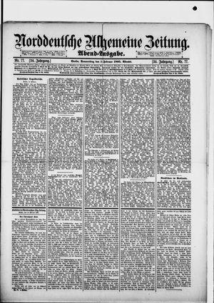 Norddeutsche allgemeine Zeitung vom 14.02.1895