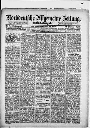 Norddeutsche allgemeine Zeitung vom 20.02.1895
