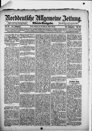 Norddeutsche allgemeine Zeitung vom 25.02.1895