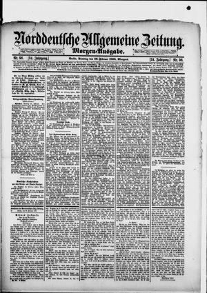 Norddeutsche allgemeine Zeitung vom 26.02.1895