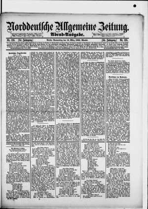 Norddeutsche allgemeine Zeitung vom 14.03.1895