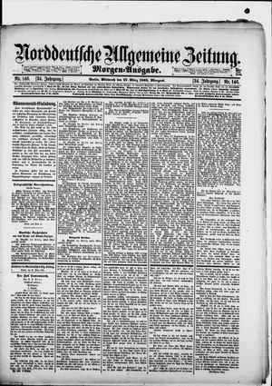 Norddeutsche allgemeine Zeitung vom 27.03.1895