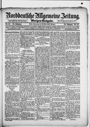 Norddeutsche allgemeine Zeitung vom 28.03.1895