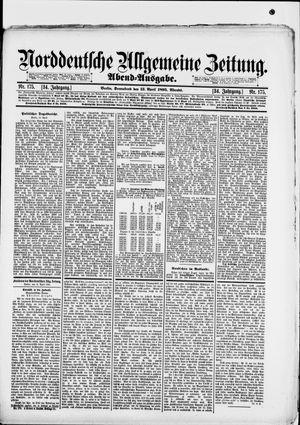 Norddeutsche allgemeine Zeitung vom 13.04.1895