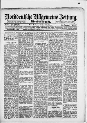 Norddeutsche allgemeine Zeitung vom 16.04.1895
