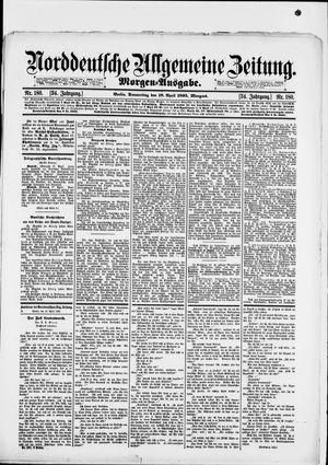 Norddeutsche allgemeine Zeitung vom 18.04.1895