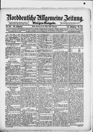Norddeutsche allgemeine Zeitung vom 21.04.1895