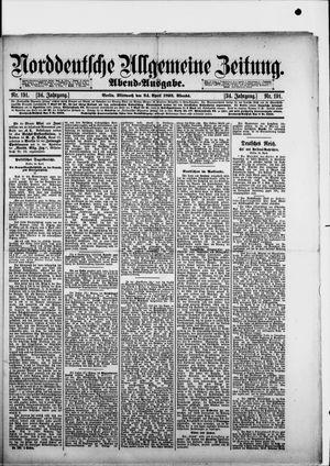Norddeutsche allgemeine Zeitung vom 24.04.1895