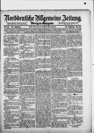 Norddeutsche allgemeine Zeitung vom 25.04.1895