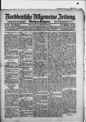 Norddeutsche allgemeine Zeitung vom 05.05.1895