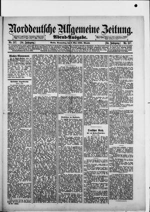 Norddeutsche allgemeine Zeitung vom 09.05.1895