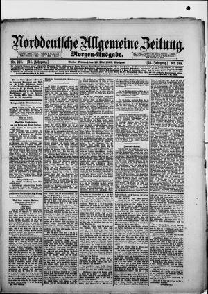 Norddeutsche allgemeine Zeitung vom 29.05.1895