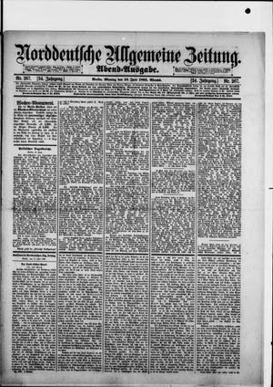 Norddeutsche allgemeine Zeitung vom 10.06.1895