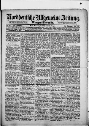 Norddeutsche allgemeine Zeitung vom 13.06.1895