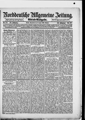Norddeutsche allgemeine Zeitung vom 15.06.1895