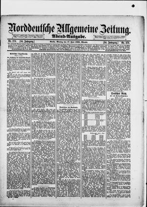 Norddeutsche allgemeine Zeitung on Jun 17, 1895