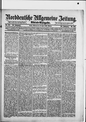 Norddeutsche allgemeine Zeitung vom 19.06.1895