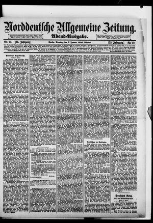 Norddeutsche allgemeine Zeitung vom 07.01.1896