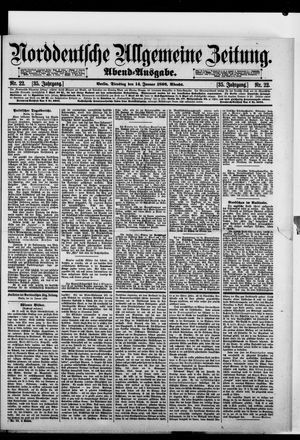 Norddeutsche allgemeine Zeitung vom 14.01.1896