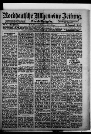 Norddeutsche allgemeine Zeitung vom 10.02.1896
