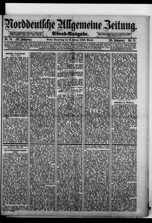 Norddeutsche allgemeine Zeitung vom 13.02.1896