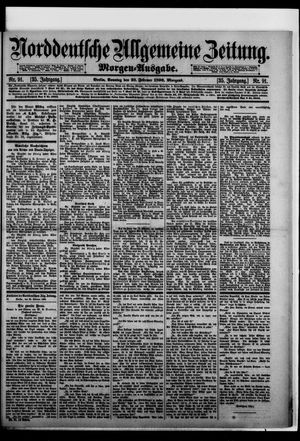 Norddeutsche allgemeine Zeitung on Feb 23, 1896