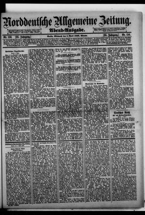 Norddeutsche allgemeine Zeitung on Apr 1, 1896