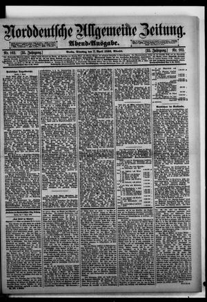 Norddeutsche allgemeine Zeitung on Apr 7, 1896