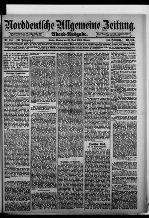Norddeutsche allgemeine Zeitung vom 20.04.1896