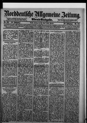 Norddeutsche allgemeine Zeitung vom 24.04.1896