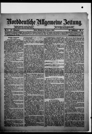 Norddeutsche allgemeine Zeitung vom 12.01.1898