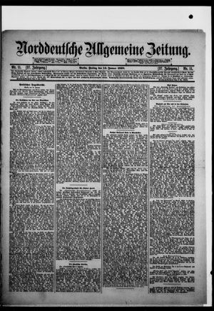 Norddeutsche allgemeine Zeitung vom 14.01.1898
