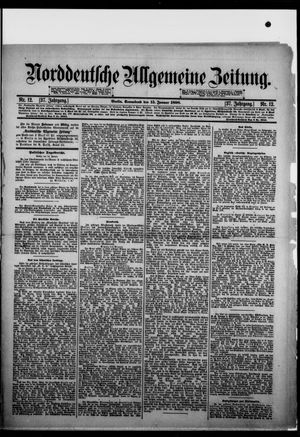Norddeutsche allgemeine Zeitung vom 15.01.1898