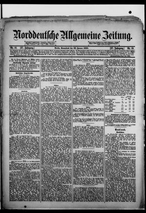 Norddeutsche allgemeine Zeitung vom 22.01.1898