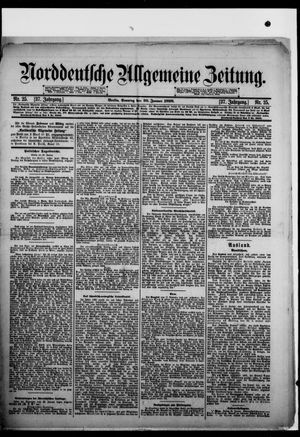 Norddeutsche allgemeine Zeitung vom 29.01.1898