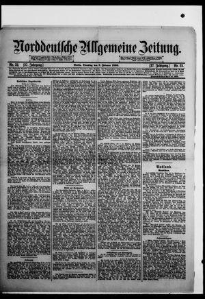 Norddeutsche allgemeine Zeitung vom 08.02.1898