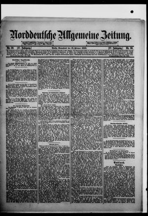 Norddeutsche allgemeine Zeitung vom 12.02.1898