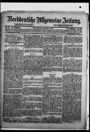 Norddeutsche allgemeine Zeitung vom 15.02.1898