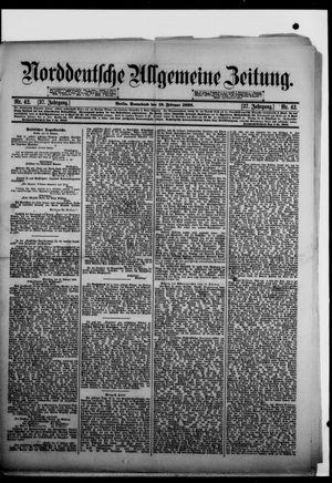 Norddeutsche allgemeine Zeitung vom 19.02.1898