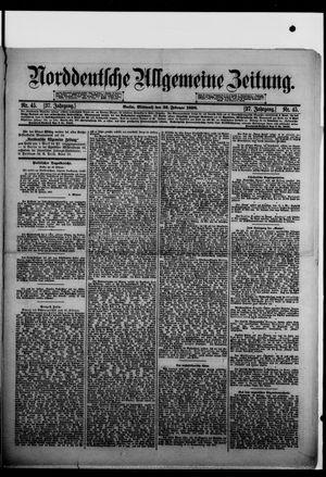 Norddeutsche allgemeine Zeitung vom 23.02.1898
