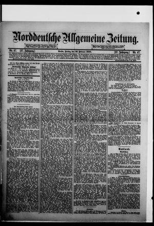 Norddeutsche allgemeine Zeitung vom 25.02.1898