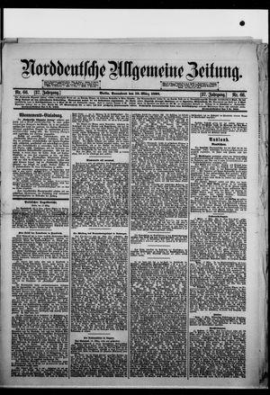 Norddeutsche allgemeine Zeitung on Mar 19, 1898
