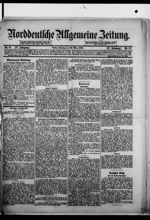 Norddeutsche allgemeine Zeitung vom 20.03.1898