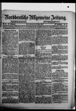 Norddeutsche allgemeine Zeitung vom 26.03.1898