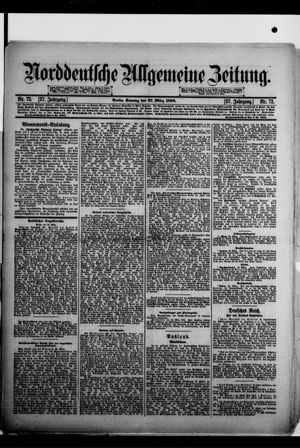 Norddeutsche allgemeine Zeitung vom 27.03.1898