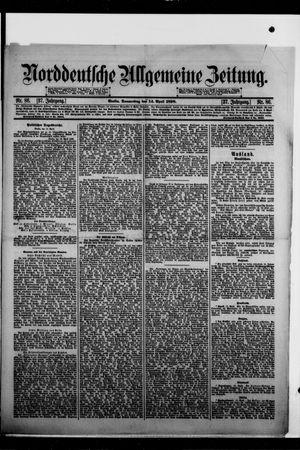 Norddeutsche allgemeine Zeitung on Apr 14, 1898